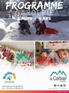 Programme animation garderie hiver 2018/2019