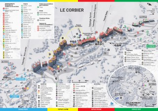Resort Map Winter - Le Corbier