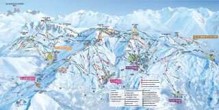 Ski map Les Sybelles Winter 2018/2019