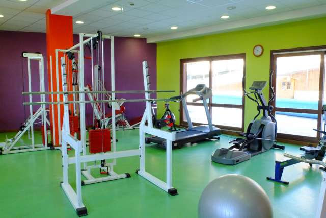 Workout and fitness area