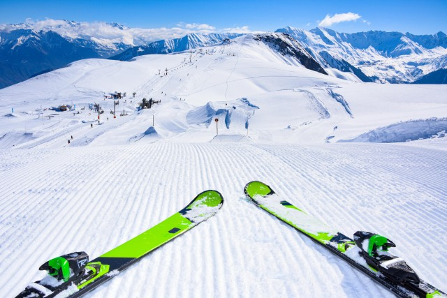 Ski equipment rental shop